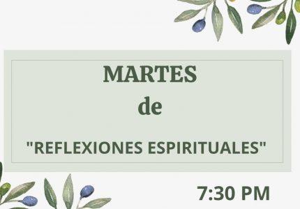 """Spanish Meditacion: Martes de """"Espiritual Reflexiones"""" at 7:30pm"""